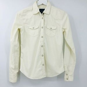American Eagle Corduroy Button Front Top